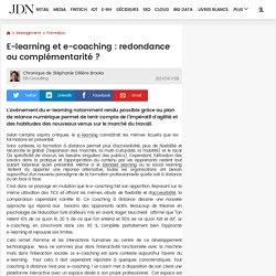 E-learning et e-coaching : redondance ou complémentarité ?