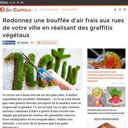 Redonnez une bouffée d'air frais aux rues de votre ville en réalisant des graffitis végétaux