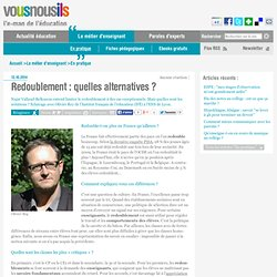 Redoublement : quelles alternatives ?