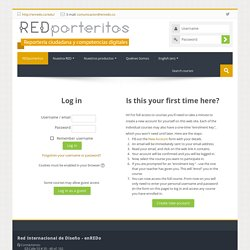 REDporteritos - reportería ciudadana y competencias digitales: Log in to the site