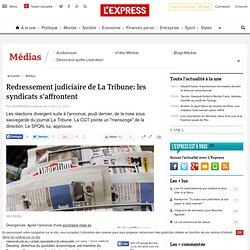 Redressement judiciaire de La Tribune: les syndicats s'affrontent