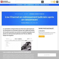 Lise Charmel en redressement judiciaire après un ransomware