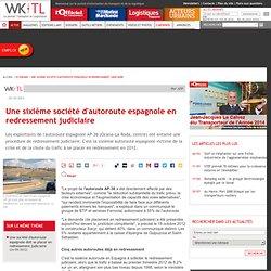 Une sixième société d'autoroute espagnole en redressement judiciaire