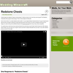 Redstone Chests « Modding Minecraft