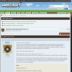 Redstone Simulator Baezon v2.2! - Forum Minecraft