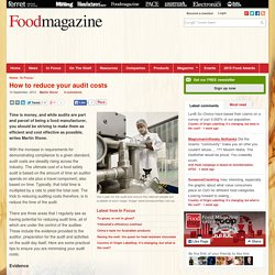 FOOD MAGAZINE 10/09/14 How to reduce your audit costs