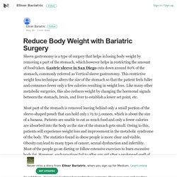 Reduce Body Weight with Bariatric Surgery