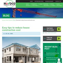 Best ways to reduce house construction cost