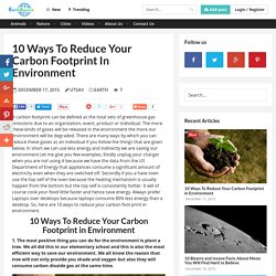 10 Ways To Reduce Your Carbon Footprint in Environment
