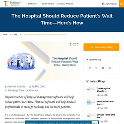 How to Reduce Patient Wait Time