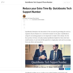 Know Why QuickBooks Tech Support number