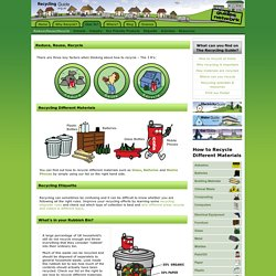 Reduce, Reuse, Recycle « Recycling Guide