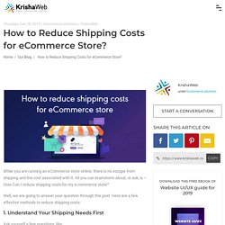 How to Reduce Shipping Costs for eCommerce Store?