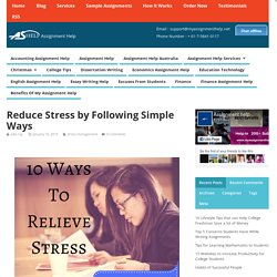 Reduce stress by following simple ways