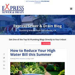 How to Reduce Your High Water Bill this Summer