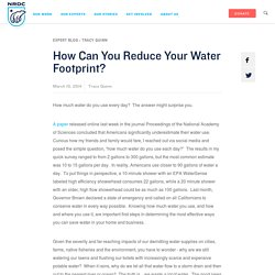 How Can You Reduce Your Water Footprint?