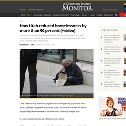 How Utah reduced homelessness by more than 90 percent