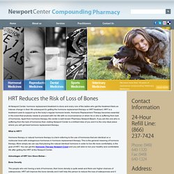 HRT Reduces the Risk of Loss of Bones - NewportRx