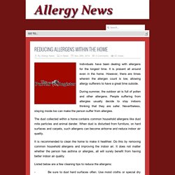 Reducing Allergens Within the Home