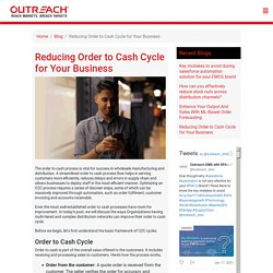Reducing Order to Cash Cycle for Your Business