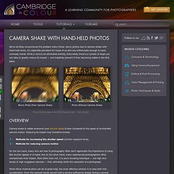 Reducing Camera Shake with Hand-Held Photos