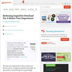 Reducing Cognitive Overload For A Better User Experience