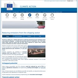 Reducing emissions from the shipping sector