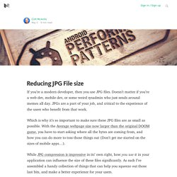 Reducing JPG File size
