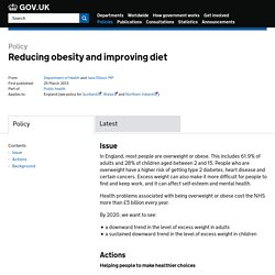 DEPARTMENT OF HEALTH 25/03/13 Reducing obesity and improving diet