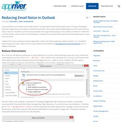 Reducing Email Noise in Outlook