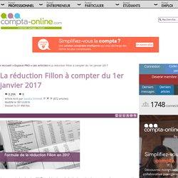 La réduction Fillon à compter du 1er janvier 2017