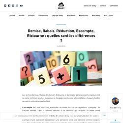 Remise, Rabais, Réduction, Escompte, Ristourne : quelles sont les différences ? - Blog Sellsy