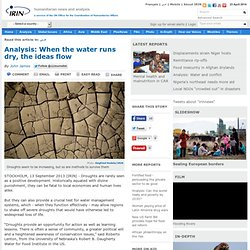 Analysis: When the water runs dry, the ideas flow