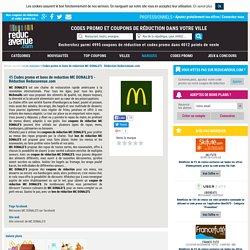 Codes promo et bons de reduction MC DONALD'S - Réduction Reducavenue.com