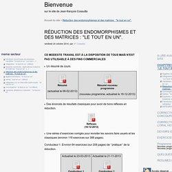 """Réduction des endomorphismes et des matrices : """"le tout en un"""". - Bienvenue"""