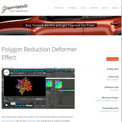 Polygon Reduction Deformer Effect