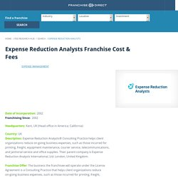 Expense Reduction Analysts Franchise Cost & Fee, Expense Reduction Analysts FDD & Franchise Information