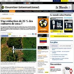 Une réduction de 25 % des cultures de coca ?