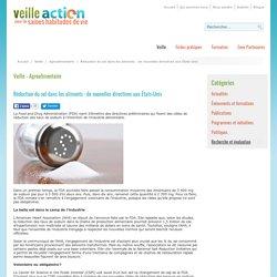 VEILLE ACTION 02/06/16 Réduction du sel dans les aliments : de nouvelles directives aux États-Unis