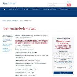 Avoir un mode de vie sain - Réduction du risque d'AVC - SanteChezNous.com