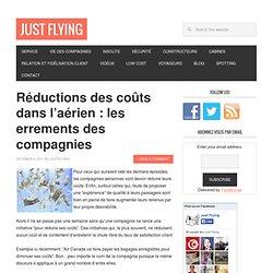 Réductions des coûts dans l'aérien : les errements des compagnies - Just Flying