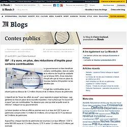 il y aura, en plus, des réductions d'impôts pour certains contribuables - Contes publics - Blog LeMonde.fr
