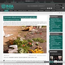Inra : Journée pour réduire les pertes agricoles et alimentaires en France
