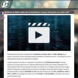 Réduire le débit vidéo des installations temps réel grâce au codec HAP