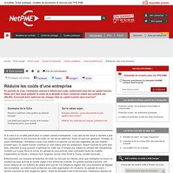 Réduire les coûts d'une entreprise NetPME