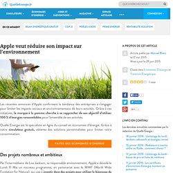 Apple veut réduire son impact sur l'environnement