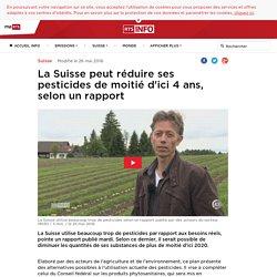 RTS 25/06/15 La Suisse peut réduire ses pesticides de moitié d'ici 4 ans, selon un rapport
