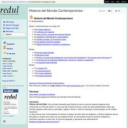 redul - Historia del Mundo Contemporáneo