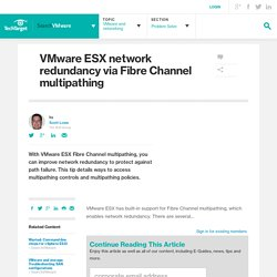 VMware ESX network redundancy via Fibre Channel multipathing