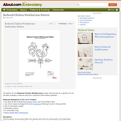 Redwork Chicken - Redwork Chicken Embroidery Pattern